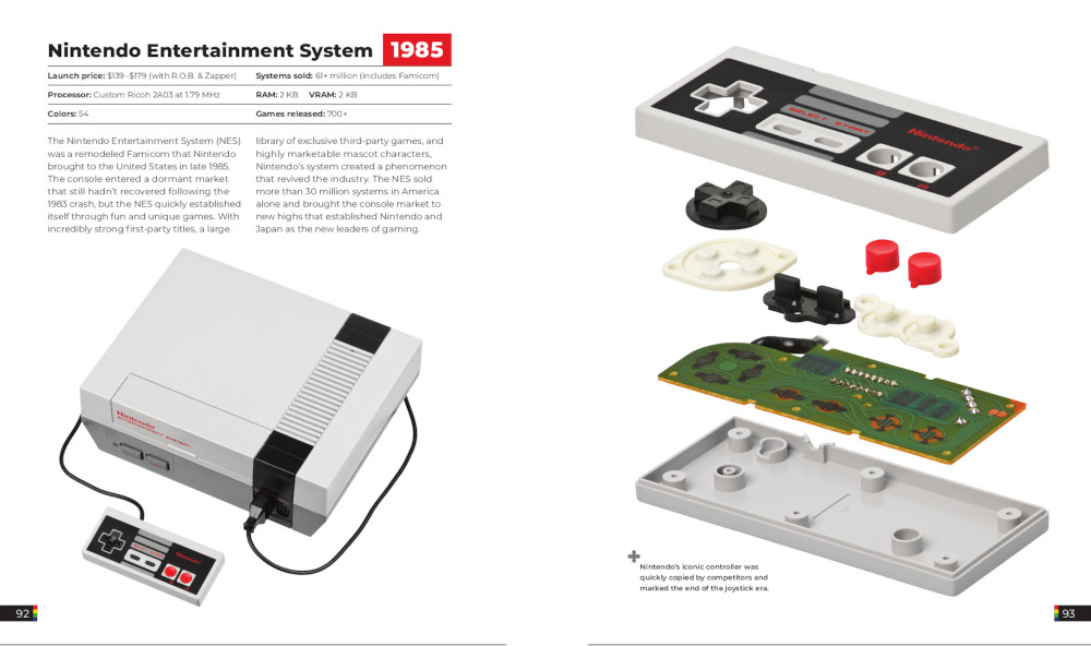 Pages from within The Game Console 2.0 discussing the Nintendo Entertainment System.