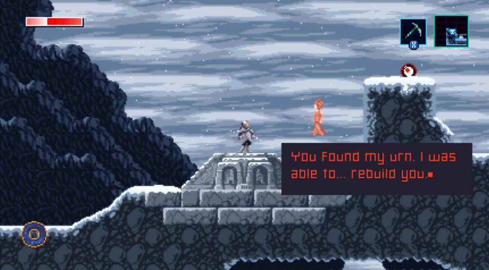Screenshot from Axiom Verge 2