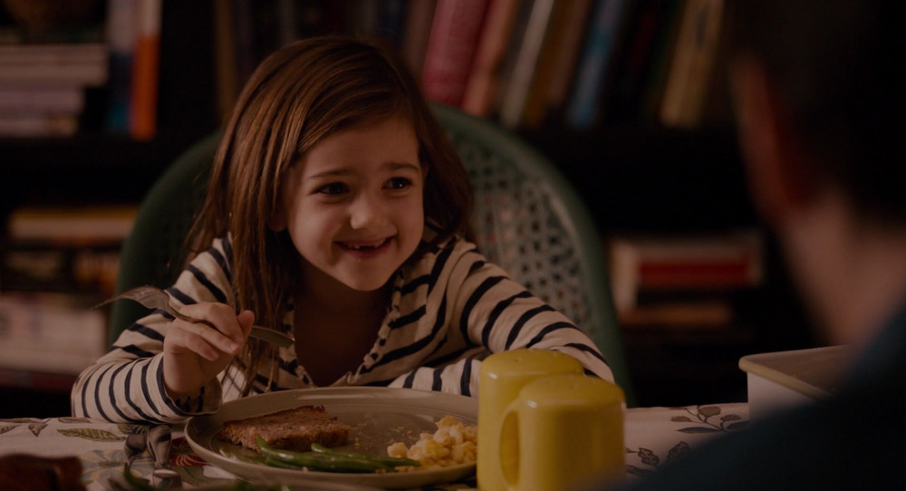 A young Cassie Lang eating in the Marvel film Ant-Man