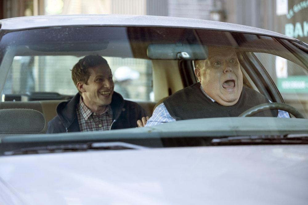 Still of Andy Samberg and Joel McKinnon Miller.