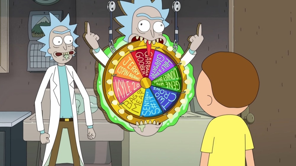 """Photo of Rick and Morty in the Rick and Morty episode """"Forgetting Sarick Mortshall."""""""