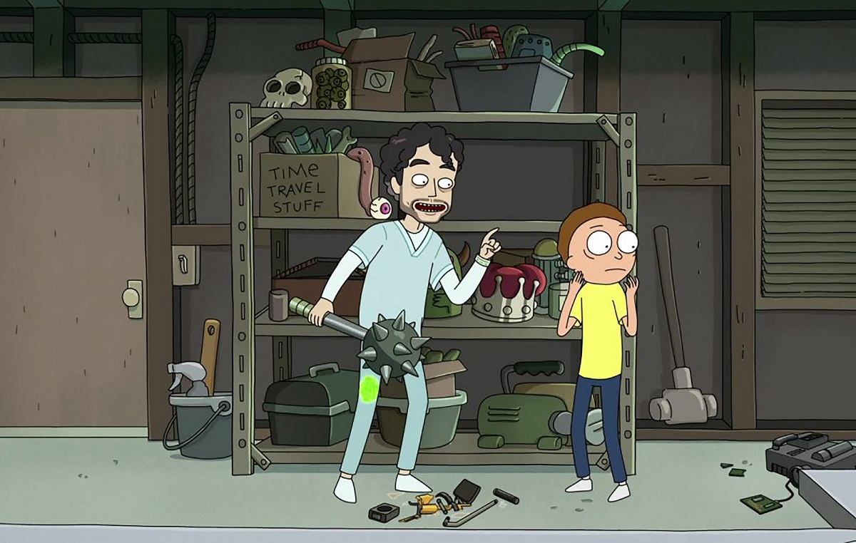 """Photo of Nick and Morty in the Rick and Morty episode """"Forgetting Sarick Mortshall."""""""