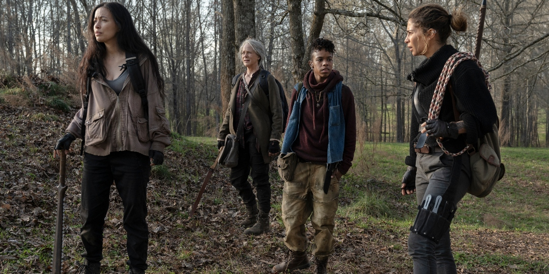 Rosita, Carol, Kelly, and Magna search for lost horses on The Walking Dead