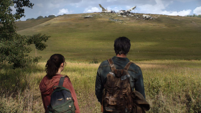 Bella Ramsey as Ellie and Pedro Pascal as Joel in The Last of Us.