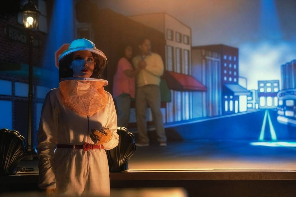 "Still of April Bowlby in the Doom Patrol episode ""Possibilities Patrol."""
