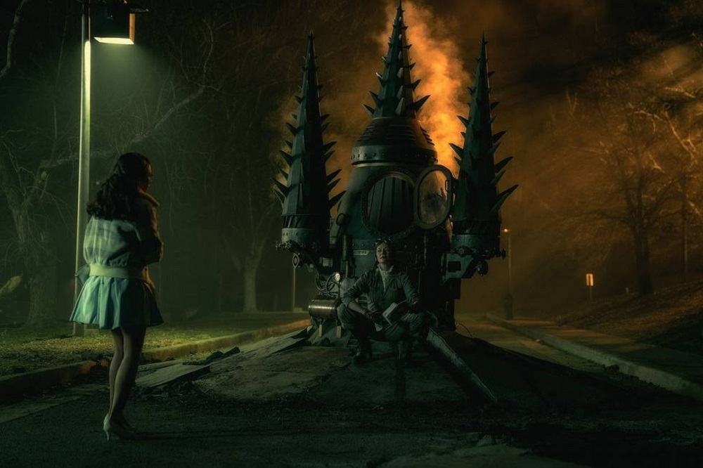 "Still of Michelle Gomez in the Doom Patrol episode ""Possibilities Patrol."""