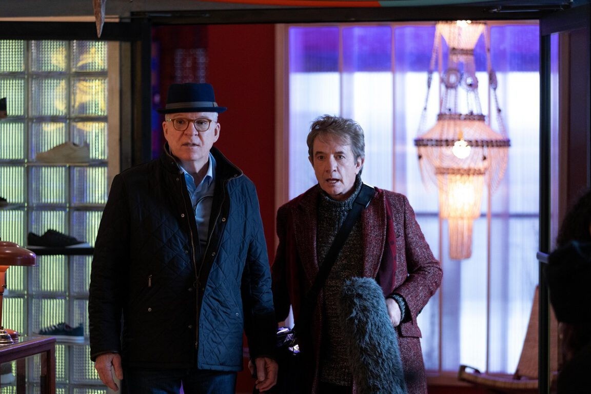 """Still of Steve Martin and Martin Short in the Only Murders in the Building episode """"Twist."""""""