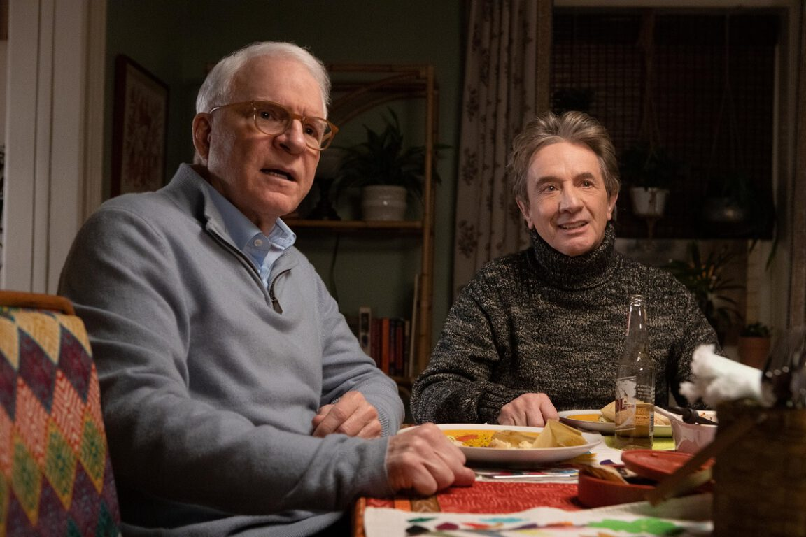 """Still of Steve Martin and Martin Short in the Only Murders in the Building episode """"To Protect and Serve."""""""