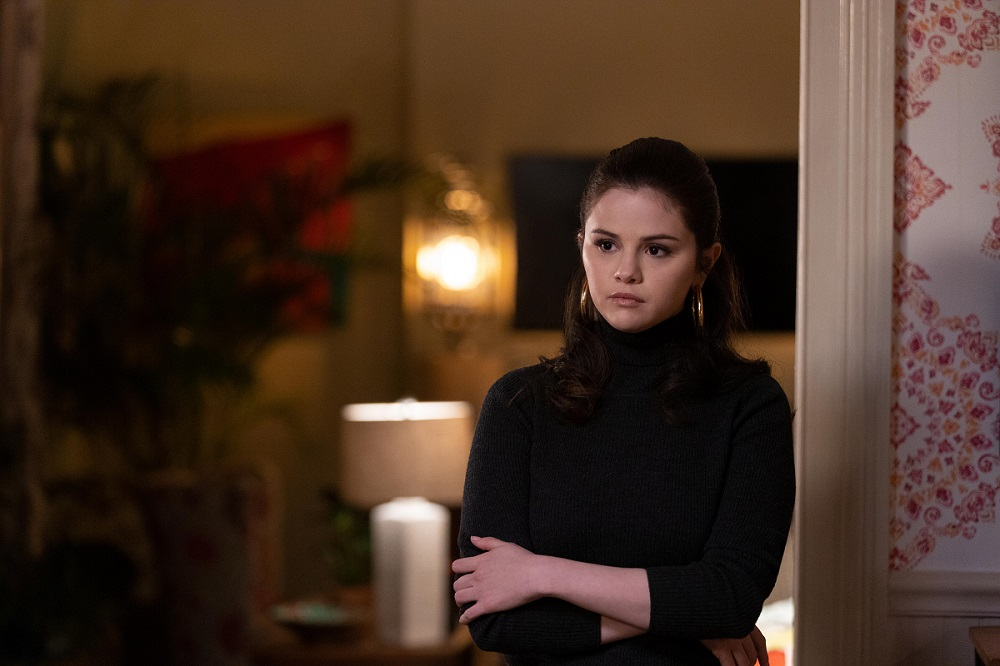 """Still of Selena Gomez in the Only Murders in the Building episode """"To Protect and Serve."""""""