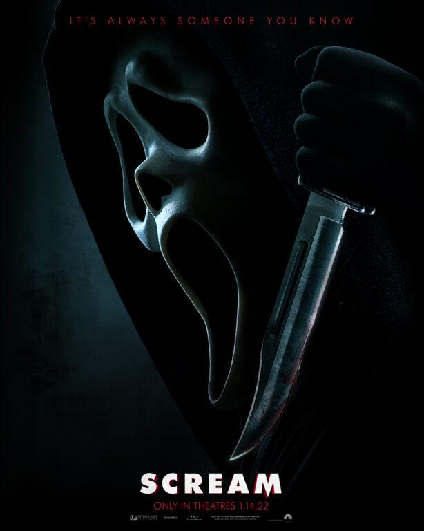 Scream movie poster featuring Ghostface.